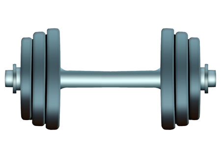 Insulated sports barbell on a white background. Dumbbells Banco de Imagens