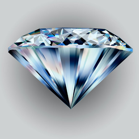 Beautiful diamond. Insulated  gem stone on a background.