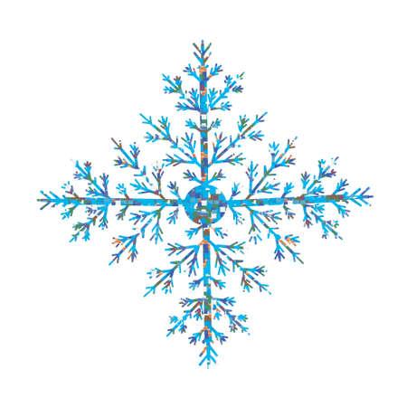 Vector illustration of snowflakes. Snowflake on a white background Illusztráció