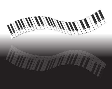 abstract piano keyboard Vector