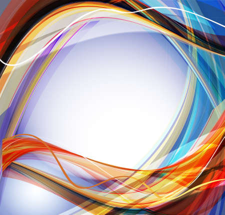 cool background: Abstract wavy vector design with with lighting effect. Vector