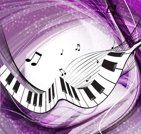 pianista: M�sica de fondo Vectores