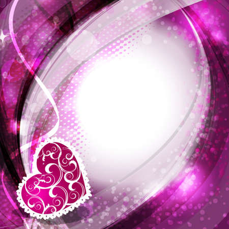 heart background with glowing effect.Vector