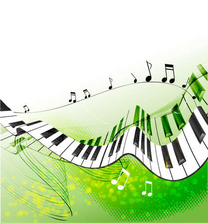 keyboard player: Music background