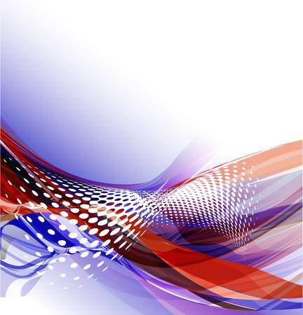 Abstract wavy vector design with with lighting effect. Vector