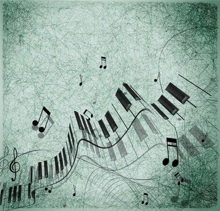 teclado de piano: Música de fondo Vectores