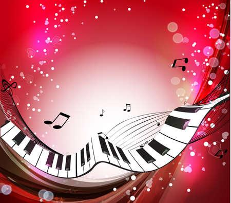 teclado de piano: M�sica de fondo Vectores