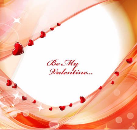 Red heart background with glowing effect.Vector  Stock Vector - 12152443