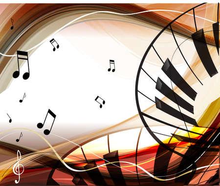 piano: Muziek achtergrond Stock Illustratie