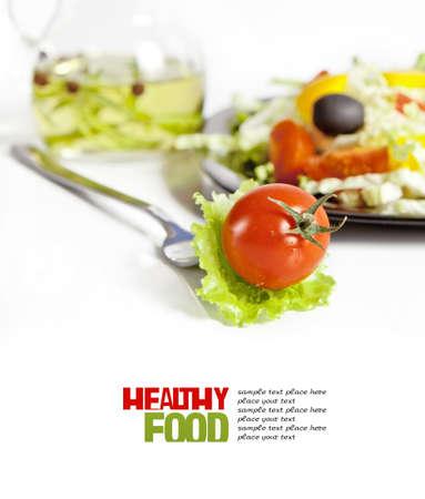 Healthy vegetarian salad isolated photo