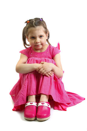 beautiful little girl 5 years  photo