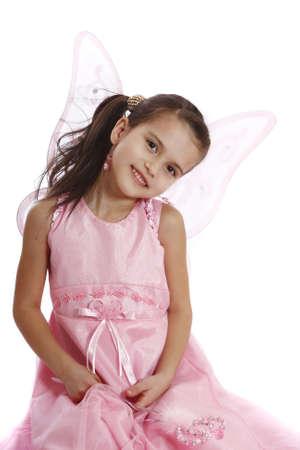beautiful girl in a fairy costume