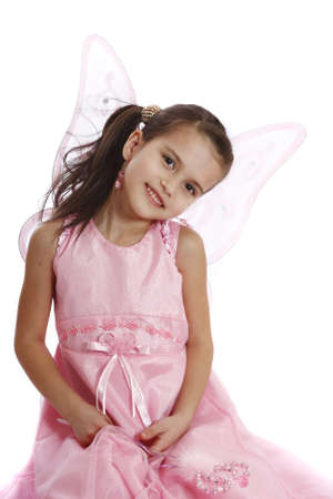 beautiful girl in a fairy costume