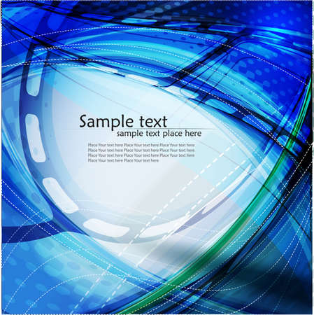 Abstract wavy vector design with with lighting effect  Vector  photo