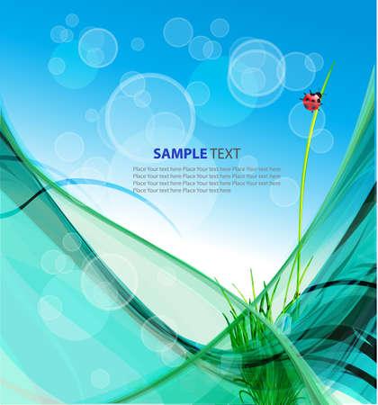 Summer greeting card  Vector illustration Stock Illustration - 13001386