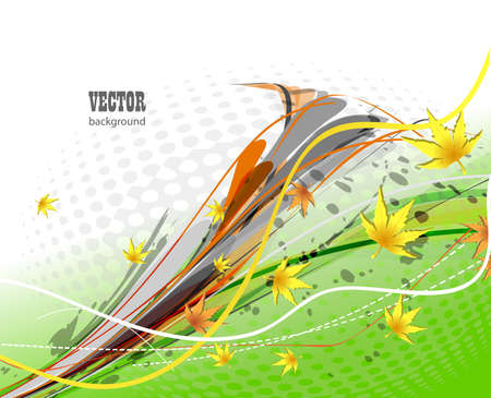 Autumn vector background Stock Photo - 13001420