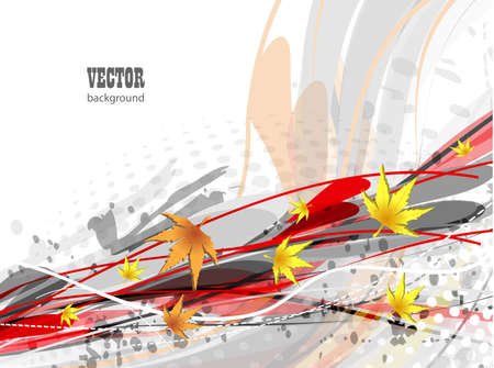 Autumn vector background  Stock Photo - 13001390