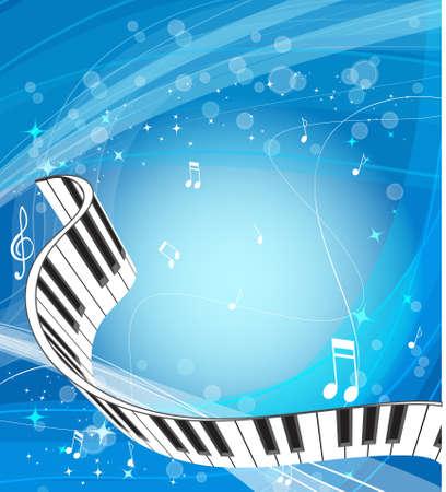 pianista: M�sica de fondo Foto de archivo