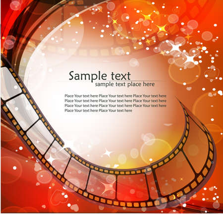 Curved photographic film  Vector photo