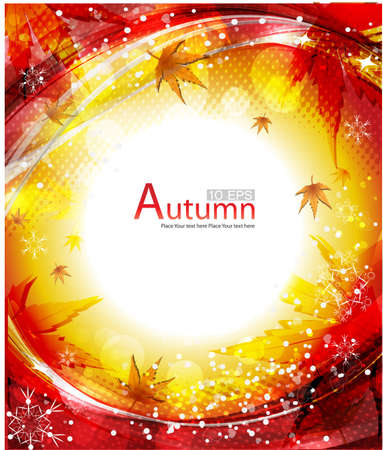 Autumn vector background Stock Photo - 13001440