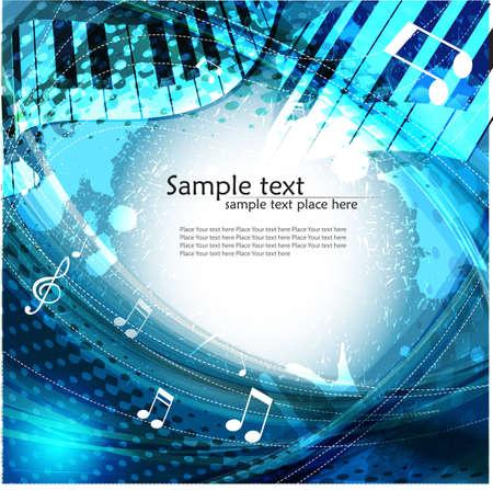 notes musicales: Musique de fond Banque d'images