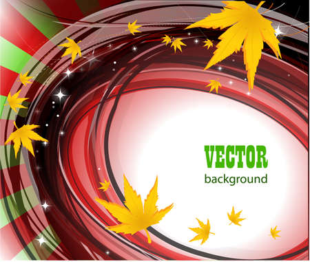 Autumn vector background photo