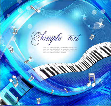 keyboard music: Music background