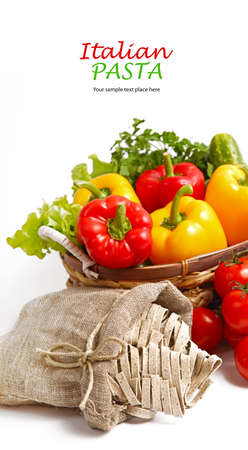 Pasta spaghetti with cherry tomato and salad Stock Photo - 16953969