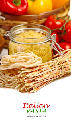 Pasta spaghetti with cherry tomato and salad Stock Photo - 16953954