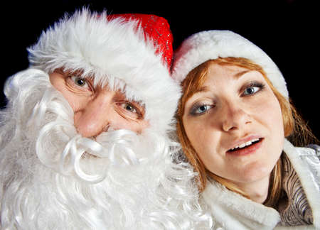 Santa Claus and Snow-maiden photo