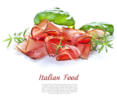 Parma ham.  Stock Photo