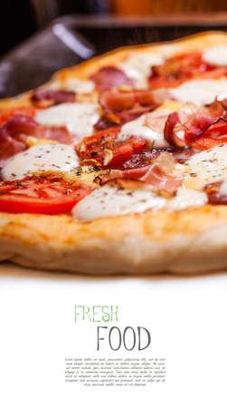 caloric: Pizza with salami, tomato and ham