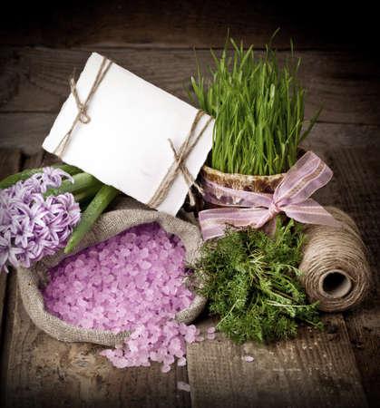 Fresh flowers hyacinths. SPA concept