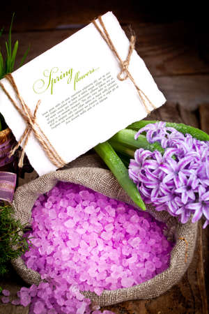 Fresh flowers hyacinths. SPA concept photo