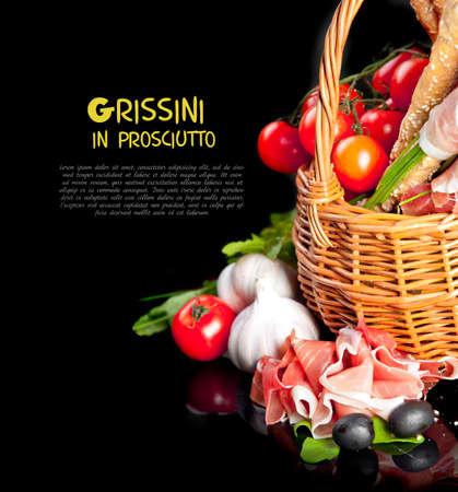 grissini: Grissini in black