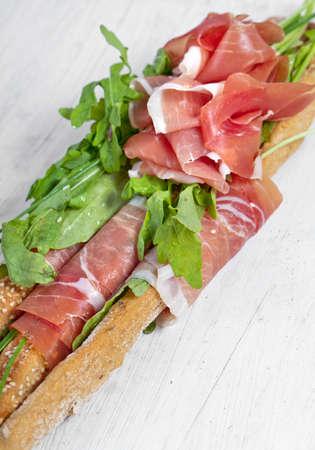 grissini: Parma ham prosciutto with grissini bread sticks