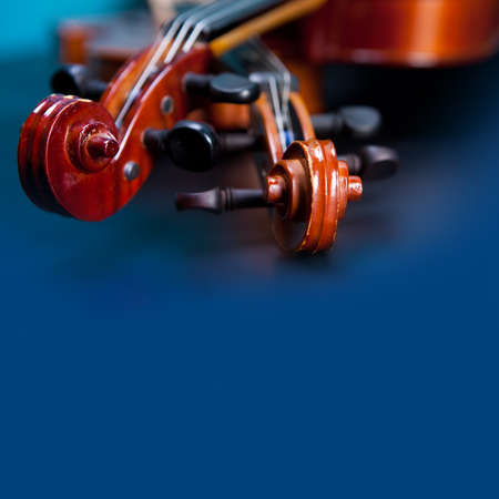 stringed: Classic music violin vintage close up Stock Photo