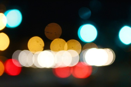 abstract blurred traffic lights background