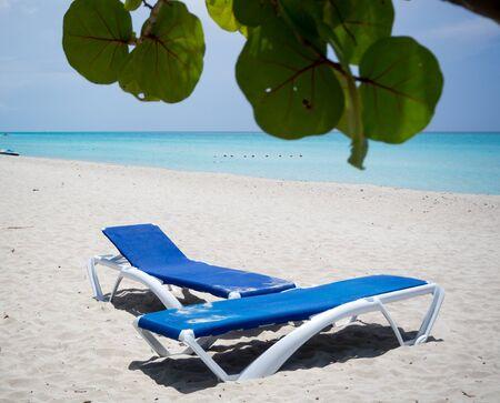 varadero: White sand and turquoise water in varadero, cuba Stock Photo