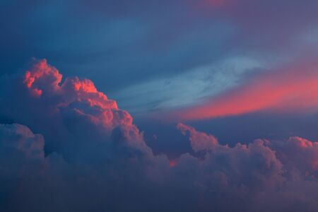 Landscape of clouds at sunset in Varadero, Cuba