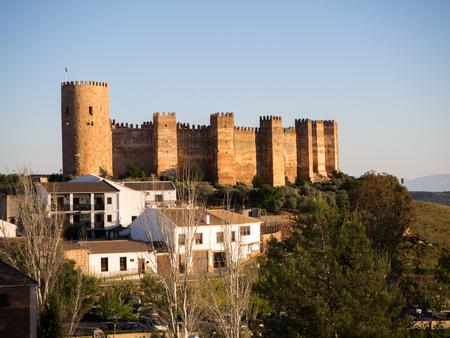 Medieval castle in Banos de la Encina, Jaen, Spain April 08, 2017 Editorial