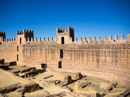 Interior view of a 12th century medieval castle in Andalusia, Spain