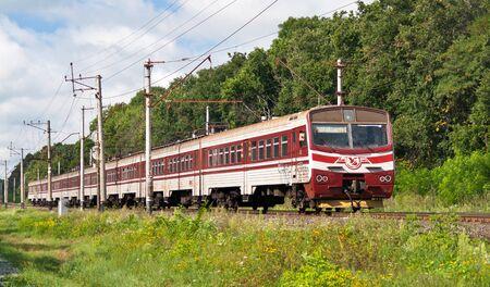 Suburban electric train in Kyiv region, Ukraine Stock Photo - 12092137