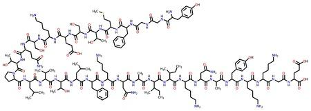Beta-endorphin structural formula Stock Vector - 12087376