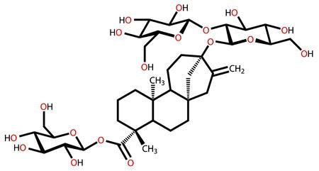 Stevioside structural formula Vector