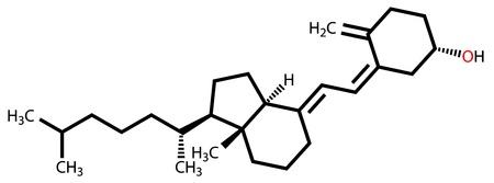 Vitamin D3 (cholecalciferol) structural formula Vector