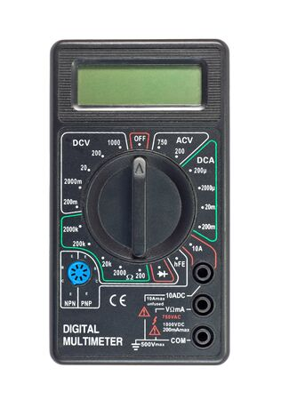 Digital multimeter isolated on a white background photo