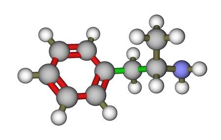 amphetamine: Mol�cula de anfetamina