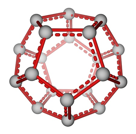 Fullerene C20 molecular model photo