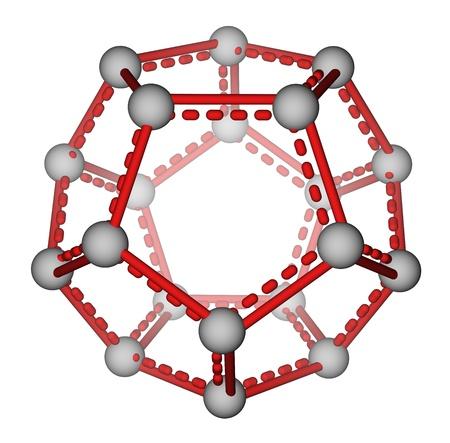 superconductivity: Fullerene C20 molecular model